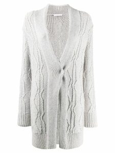 Fabiana Filippi draped slim-fit cardigan - Grey
