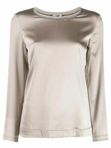 Peserico stretch long sleeve top - Grey