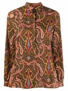 Etro paisley print long sleeve shirt - Black