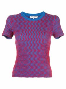 Opening Ceremony squiggle short sleeve sweater - Blue