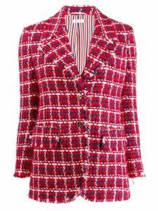 Thom Browne Gun Club Check Chiffon Sport Coat - Red