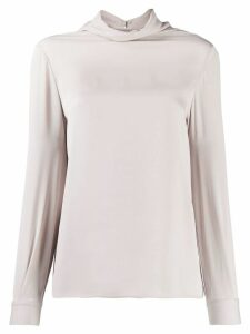 Fabiana Filippi turtle neck sweatshirt - Grey