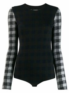 Maison Margiela checked wool bodysuit - Grey