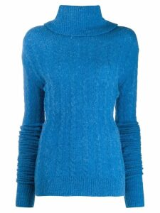 Jacquemus Sofia ribbed roll-neck sweater - Blue