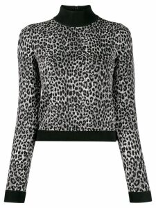 Michael Michael Kors slim-fit animal print jumper - Grey