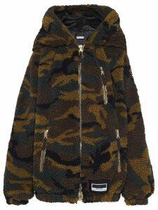Miu Miu camouflage teddy coat - Green