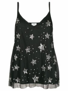 P.A.R.O.S.H. sequin-embellished tank top - Black