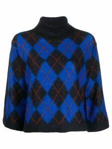PS Paul Smith argyle print jumper - Blue