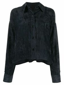 Isabel Marant cropped corduroy button-up shirt - Black