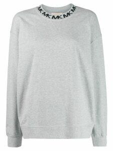 Michael Michael Kors logo print sweatshirt - Grey