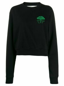 Off-White off embroidered sweatshirt - Black