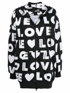 Love Moschino logo printed hoodie - Black