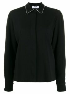 MSGM crystal embellishments shirt - Black
