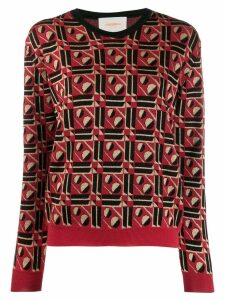 La Doublej geometric jumper - Red