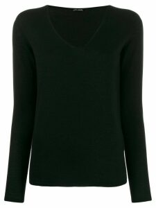 Iris Von Arnim v-neck jumper - Black