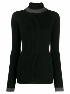 Brag-wette turtleneck jumper - Black