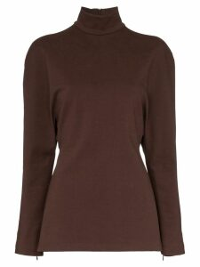 Samuel Gui Yang Persona turtle neck top - Brown