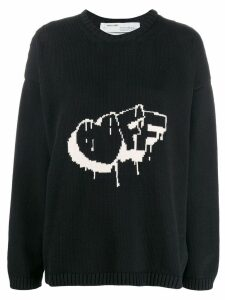Off-White intarsia-knit jumper - Black