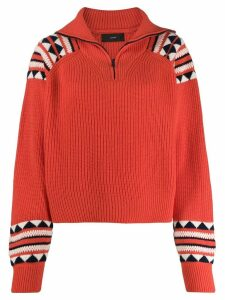 Alanui half zip jumper - ORANGE