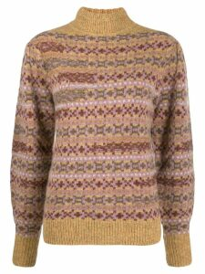 Isabel Marant Étoile fair isle roll neck jumper - NEUTRALS
