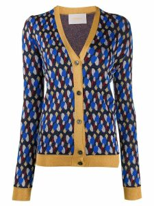 La Doublej metallic patterned cardigan - Blue