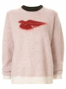 Bella Freud Hot Lips jumper - PINK