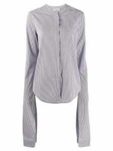 Coperni extra long sleeve striped shirt - Blue