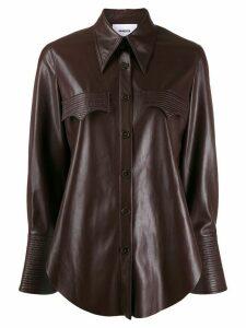 Nanushka Elpi vegan leather western shirt - Red