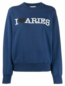 Aries printed sweatshirt - Blue