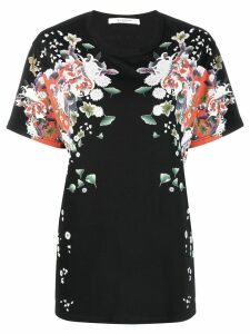 Givenchy floral print T-shirt - Black