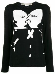Comme Des Garçons printed jumper - Black