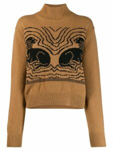 Alexa Chung knitted dog sweater - Brown