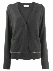 Fabiana Filippi beaded cardigan - Grey
