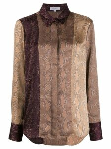 Equipment snakeskin print shirt - Neutrals