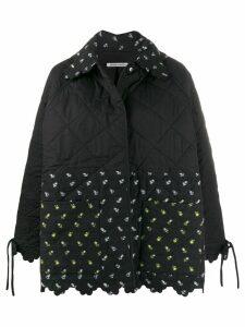 Cecilie Bahnsen quilted floral-print jacket - Black