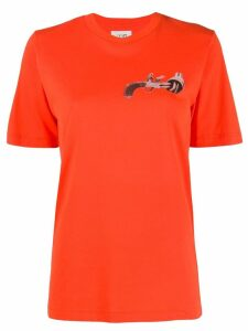 Kirin gun print T-shirt - ORANGE