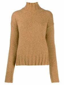 Dondup roll neck jumper - Brown