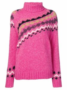 Derek Lam 10 Crosby diagonal fair isle sweater - PINK