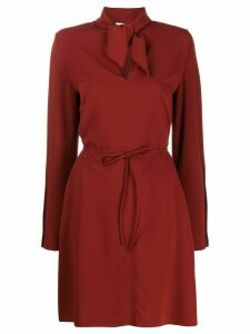 See By Chloé tie neck dress - Brown