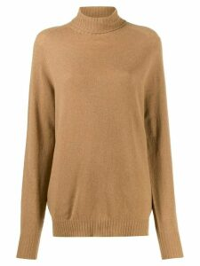 Ma'ry'ya rollneck knit sweater - NEUTRALS