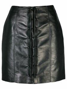 Victoria Hayes pin-embellished mini skirt - Black