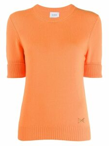 Barrie round neck cashmere jumper - 479Fluo Orange