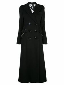 Victoria Hayes double-breasted coat - Black