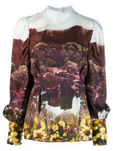 Baum Und Pferdgarten garden print blouse - Brown