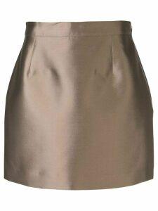 Victoria Hayes zipped mini skirt - GOLD