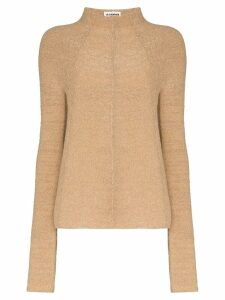 Jil Sander high-neck knitted jumper - NEUTRALS