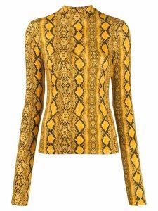 Andamane snakeskin print sweatshirt - Yellow