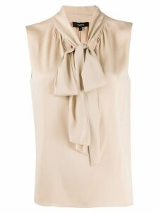 Theory pussy bow blouse - NEUTRALS