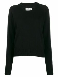 Maison Margiela cashmere chest cut-out sweater - Black