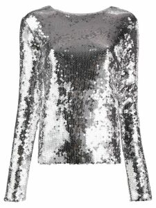 Andamane sequinned slim-fit top - SILVER